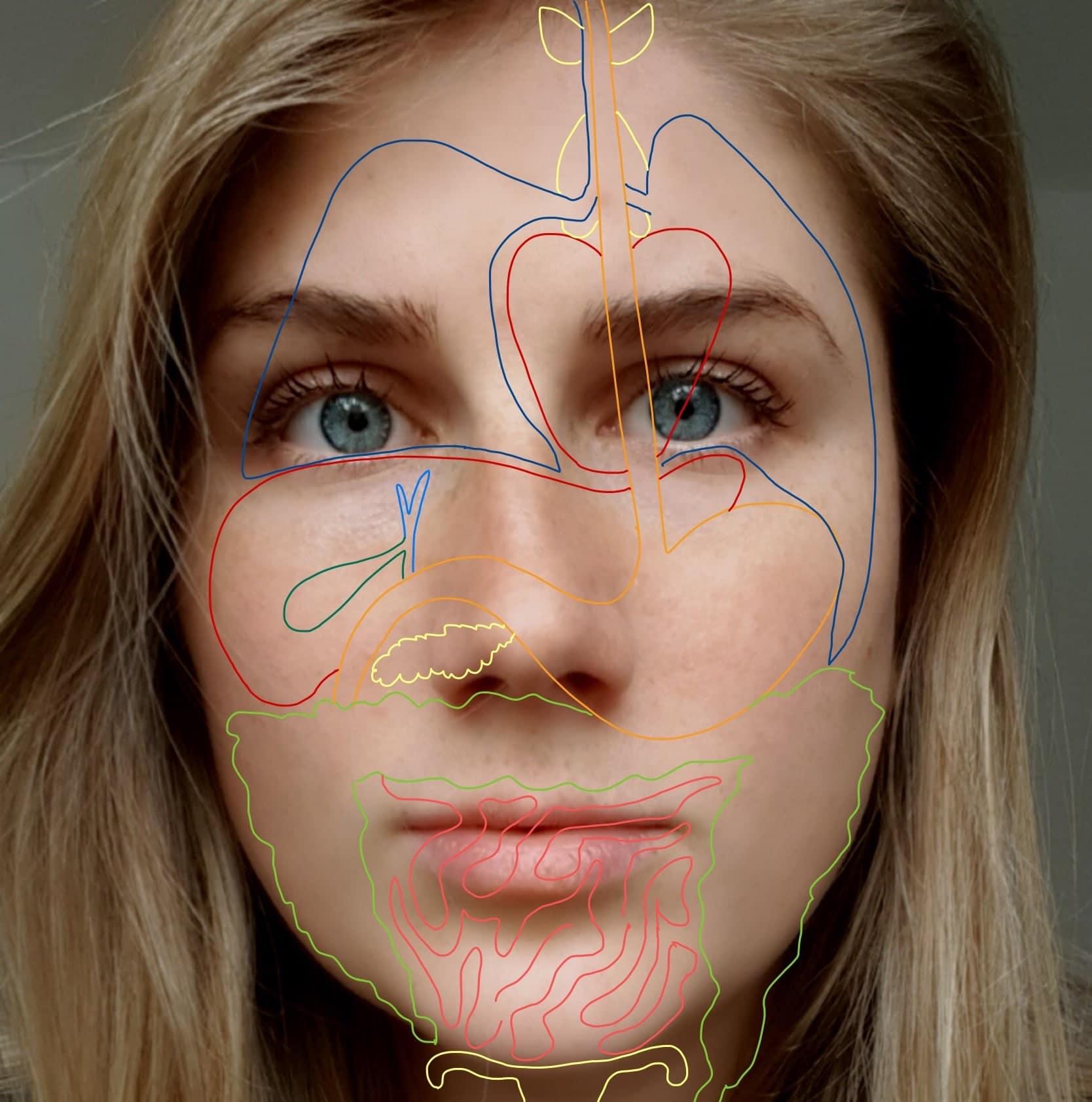 reflexzonen Gesicht